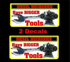 Diesel mechanics have bigger tools decal Matco toolbox cart socket craftsman