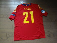 Spain #21 David Silva 100% Original Soccer Jersey Shirt XL 2012 Home BNWT NEW