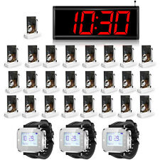 KERUI Wireless Service Pager Waiter Calling System,3 Watches,25 Pagers,1 Display