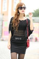 New Women's Vogue Batwing Sleeve Summer Knitting Crochet Loose Knitwear Blouse