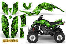 YAMAHA RAPTOR 660 GRAPHICS KIT CREATORX DECALS STICKERS INFERNO GREEN