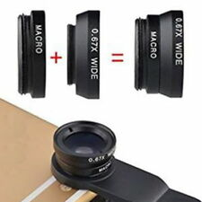 3in1 Clip-on Fisheye Wide Angle Macro Lens Kit For iPhone 5 6 Samsung All Phone