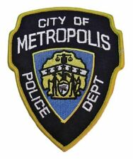 Superman City of Metropolis Police Department Logo Patch