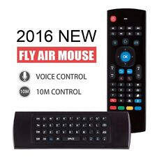 2.4GHz Fly Air Mouse Wireless Qwerty Keyboard Remote for KODI XBMC MXQ MX3 M8S +