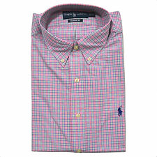 Polo Ralph Lauren Mens Dress Shirt Classic Fit Woven Button Down Solid Striped