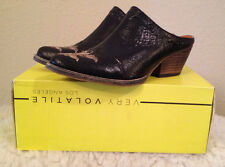 Very Volatile Daytons BLACK Mules Western Booties Womens 6 M NEW