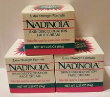 Nadinola Skin Discoloration Fade Cream Extra Strength Formula NEW IN BOX 3 PACK