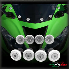 Strada 7 Racing CNC Windscreen Bolts M5 Wellnuts Set Yamaha FZ1 FAZER Silver
