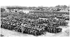 1949  Military motorcycles for sale German surplus  13 x 19  Photograph