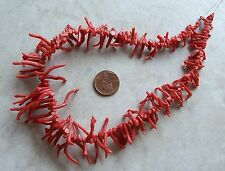 "14"" Strand Italian Branch Coral Gemstone Organic Natural Briolette Beads 7-30mm"