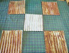 """{STOCK PHOTO-12"""" x 12"""" } 1 p. RECLAIMED METAL CORRUGATED TIN ROOFING PANELS"""
