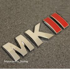 MKII Car Rear Boot Trunk Tailgate Emblem Badge Decal Sticker MK2 Mark 2 VW *