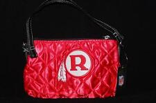 New Licensed Washington Redskins Quilted Wristlet Purse Retro Logo Too Cute! B97