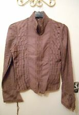 Stunning Lagenlook Layering Vintage Chine Collection Purple Jacket 8 10 12