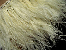 F109 PER 30cm-Pale Yellow Ostrich feather fringe Trim Brooch/Fascinator Material