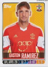 N°253 GASTON RAMIREZ # URUGUAY SOUTHAMPTON.FC STICKER TOPPS PREMIER LEAGUE 2014