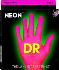 DR Neon PINK BASS Guitar Strings 40-100 light