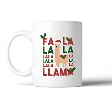 Fa La La La Llama Mug Christmas Gift Idea Cute Ceramic Mugs