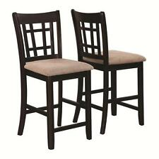 Lattice Back Espresso Counter Height Dining Chair by Coaster 105279 - Set of 2