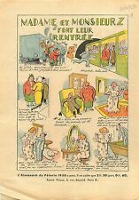 Caricature Vacances Parisiens Métro Concierge Gaz Paris France 1937 ILLUSTRATION