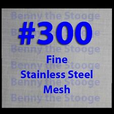 "12""x12"" #300 Mesh / 61 Micron Ultra Fine Filtration Mesh / Stainless Steel USA"
