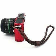 Brown PU braided hand wrist strap for leica A7R a5000 nex 5r/5T/3N 5N A5100 EOS