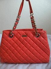 Kate Spade New York Gold Coast Maryanne Quilted Leather Tote Salmon pre-owned