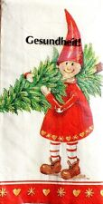"""Package of 10 Decoupage 4-ply  8.25""""sq Tissue Napkins - Smiley Christmas Kids"""
