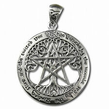 Celtic Tree of Life Pentacle Silver Pendant by Paul Borda Dryad Design #TPD208