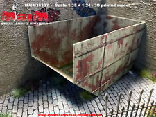 1:35 Scale Dumpster Container large 3D printed diorama accessory