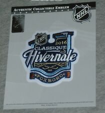 2016 Winter Classic Patch Gillette Stadium Bruins Montreal Canadiens French Type