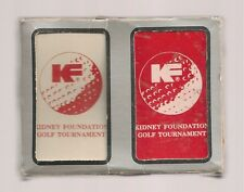 Kidney Foundation Golf Tournament Playing Cards 2 Decks Set Sealed