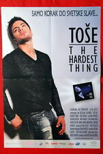 TOSE PROESKI HARDEST THING MACEDONIAN 2008 VERY RARE SERBIAN MOVIE POSTER