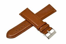 22MM BROWN GENUINE LEATHER STITCHED WATCH BAND STRAP FITS FOSSIL GRANT