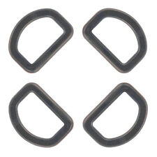10 - 1 Inch Black Plastic D-Rings