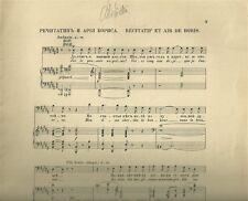 Spartito Antico per Canto e Pianoforte Boris Godounov di Moussorgsky 1908