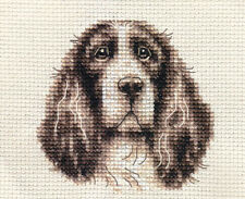 SPRINGER SPANIEL DOG ~ Full counted cross stitch kit + All materials included