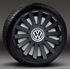 "Set COMPLETO 15 ""NERO COPRICERCHI per adattarsi VW transp.t4, GOLF, TOURAN, POLO, CADDY"