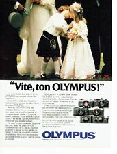 PUBLICITE ADVERTISING 0217  1982  Olympus  appareil photo OM-2