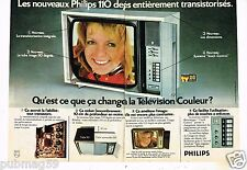 Publicité advertising 1973 (2 pages) Téléviseur Television 110 Philips