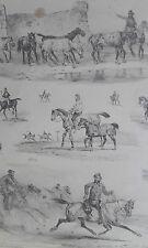 Chevaux course dressage équitation Victor ADAM PASSE/TEMS GRAVURE XIXéme