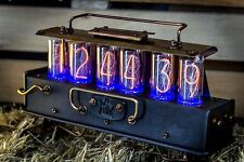 Unique IN-18 Nixie Clock with 6 tubes Handmade Steampunk | Z568M style | №37