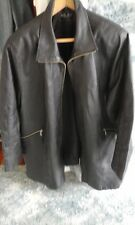 Milan Leather Jacket Biker Zips Perfect Large Side Zips