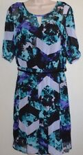 Ladies ATTENTION 3/4 Sleeve Chiffon Career Casual DRESS size M