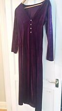 Long velvet gothic purple coat size small