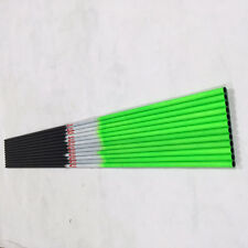 "Linkboy 30.5"" Green Carbon Arrow Shaft Spine 400 7.6mm Diameter Archery x12"