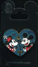 Minnie and Mickey 2 Two Piece Heart Valentine's Day Disney Pin 112599 - NEW