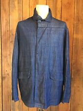 vtg LEVIS denim CHORE sack COAT jacket LARGE 44-46 chest RARE made in USA vgc