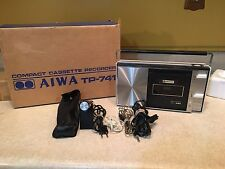 Vintage AIWA tp-741 Compact Cassette Recorder, Very Early Version, In Box