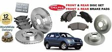 FOR HYUNDAI SANTA FE 11/2005-2010 FRONT & REAR  BRAKE DISCS SET & DISC PADS KIT